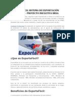 EXPORTA FÁCIL SISTEMA DE EXPORTACIÓN PARA PYMES