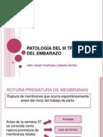 PATOLOGÍA DEL III TRIMESTRE DEL EMBARAZO