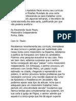 Paulo Rejeitado Como Mission a Rio