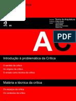 Arquitetura e crítica - seminário