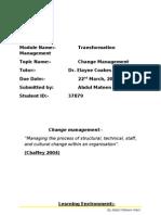 Change Management Assign