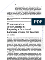 Communication in the Classroom - Preparing a Functional Language Cse for Teachers - J.B. HEALTON