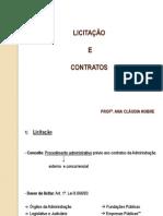 Slides - Licitação e contratos