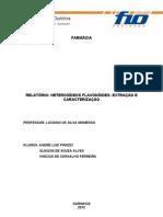 Aula Pratica III - relatório de farmacognosia