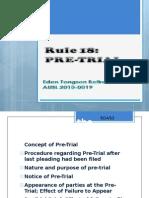 Rule 18 Pre-trial VOICE
