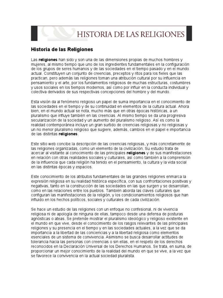Historia de Las Religiones ad194a4557d
