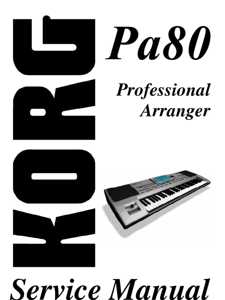 Korg pa80 service manual download, schematics, eeprom, repair info.
