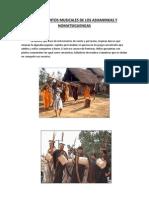 Instrumentos Musicales de Los ashaninkas y Nomatsiguengas