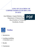 Modelling of Leaching of Copper Oxides in Dumps and in-situ
