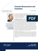 White Papers Forecast Measurement Evaluation White Paper