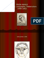Frida Kahlo - Sketches, Litographs, Watercolors (1946-1952)