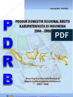 Pdrb Kabkot Indonesia 2004-2008