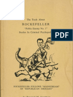 Emanuel M. Josephson, The Truth About ROCKEFELLER 'Public Enemy No. 1' Studies in Criminal Psychopathy (1964)