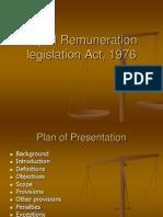 Equal Remuneration Legislation Act, 1976