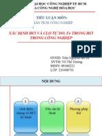 3.Xác định HCl và Clo tự do, Fe trong HCl công nghiệp