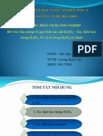 4. Đại cương về qui trình sản xuất H2SO4 - Xác định hàm lượng H2SO4, Fe và As trong H2SO4 kỹ thuật