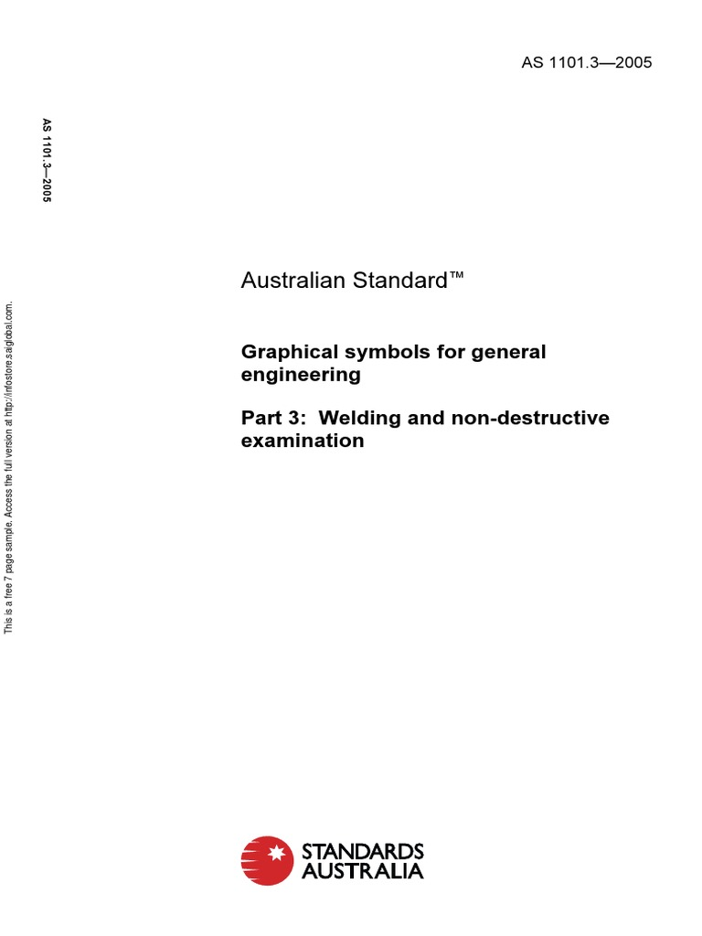As 11013 2005 Graphical Symbols For General Engineering Welding And