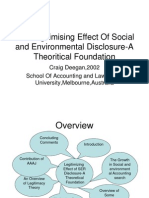 The Legitimising Effect of Social and Environmental Disclosure-A