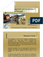 Land Management and Landsildes in North of Portugal,