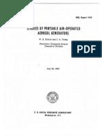 Studies of Portable Air Operated Aerosol Generators