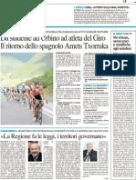 Da studente a Urbino ad atleta del giro / Caso Ersu, parla Ucchielli - Il Resto del Carlino dell'11 maggio 2012