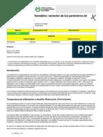 Productos inflamables, variación de los parámetros de  peligrosidad