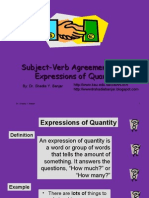 Subject-Verb Agreement, Using Expressions of Quantity, By Dr. Shadia