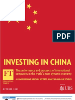 FT Report - Investing in China