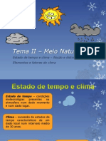 Elementos Do Tempo e Clima