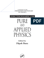 Dictonary of Pure and Applied Mathematics