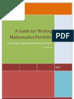 A Guide for Writing Mathematics Portfolio