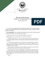 May 8 Senate impeachment court record