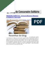 RESENHA ESPECIAL Libros Chavenato