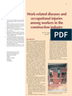 Work-Related Diseases and Occupational Injuries Among Workers in the Construction Industry (2004)