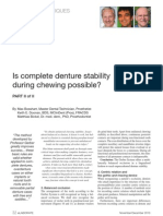 Complete Denture Stability