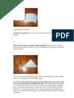 Bricolage Losange Angles