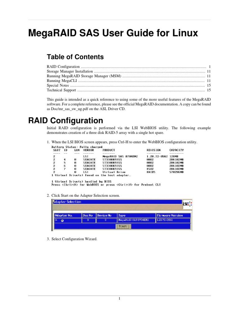 MegaRAID User Guide | Hard Disk Drive | Cache (Computing)