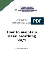 Manual How Maintain Nasal Breathing 24 7