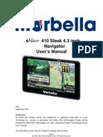 Marbella iNav 410 Sleek 4.3inch Navigator - Hardware Instruction Manual