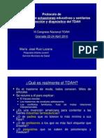 07Protocolo Coordinacion Educ. Sanidad Murcia.intervencion Sanitaria. Dra. Ruiz Lozano