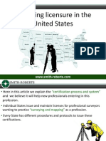 Surveying licensure in the United States