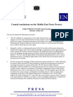 Council conclusions on the Middle East Peace Process