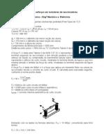 Cálculo de esforços em coluna de isoladores de seccionadores