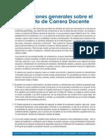Conclusiones Ley Carrera Docente (Colegio de Profesores)