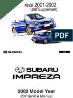 Impreza Manual 2001-2002