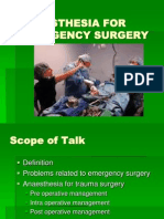 Anesthesia for Emergency Surgery