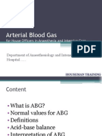 Arterial Blood Gas for HO