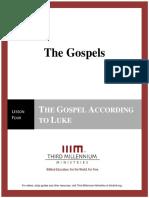 The Gospels - Lesson 4 - Transcript