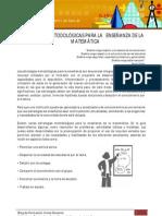 Estrategias metodológicas para la enseñanza de las matematicas