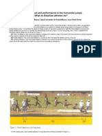 Approach Speed and Performance in the Horizontal Jumps